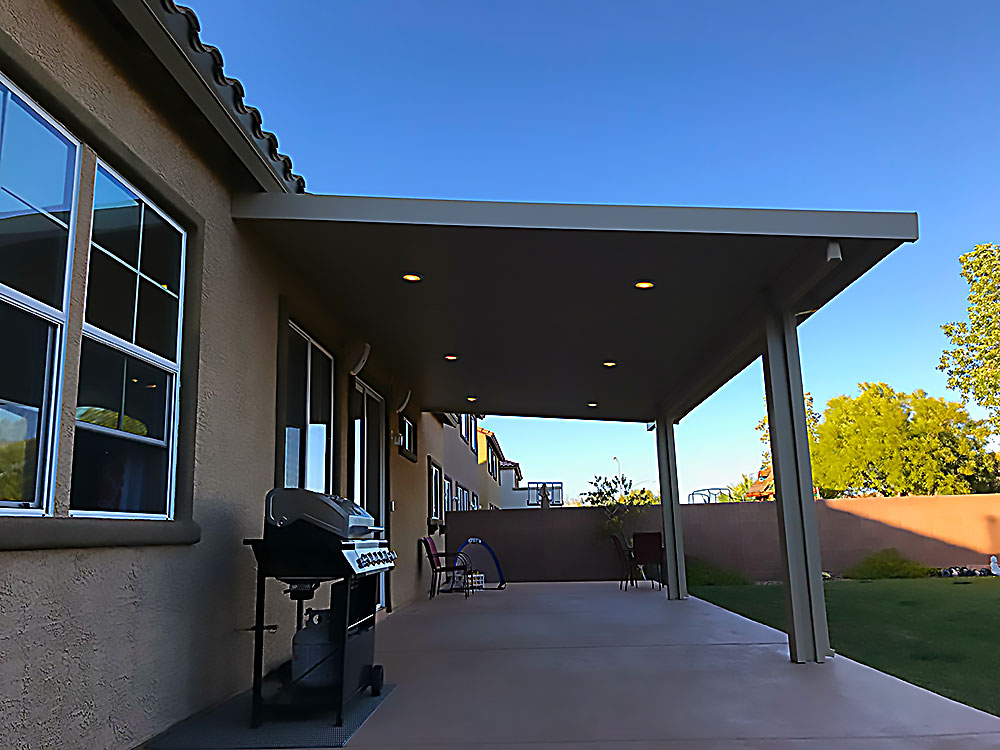 Aluminum Patio Cover with Recessed Lights